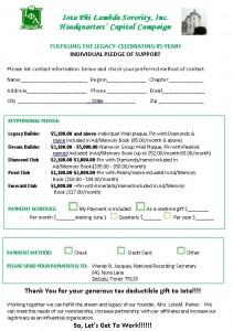 Personal Pledge Card